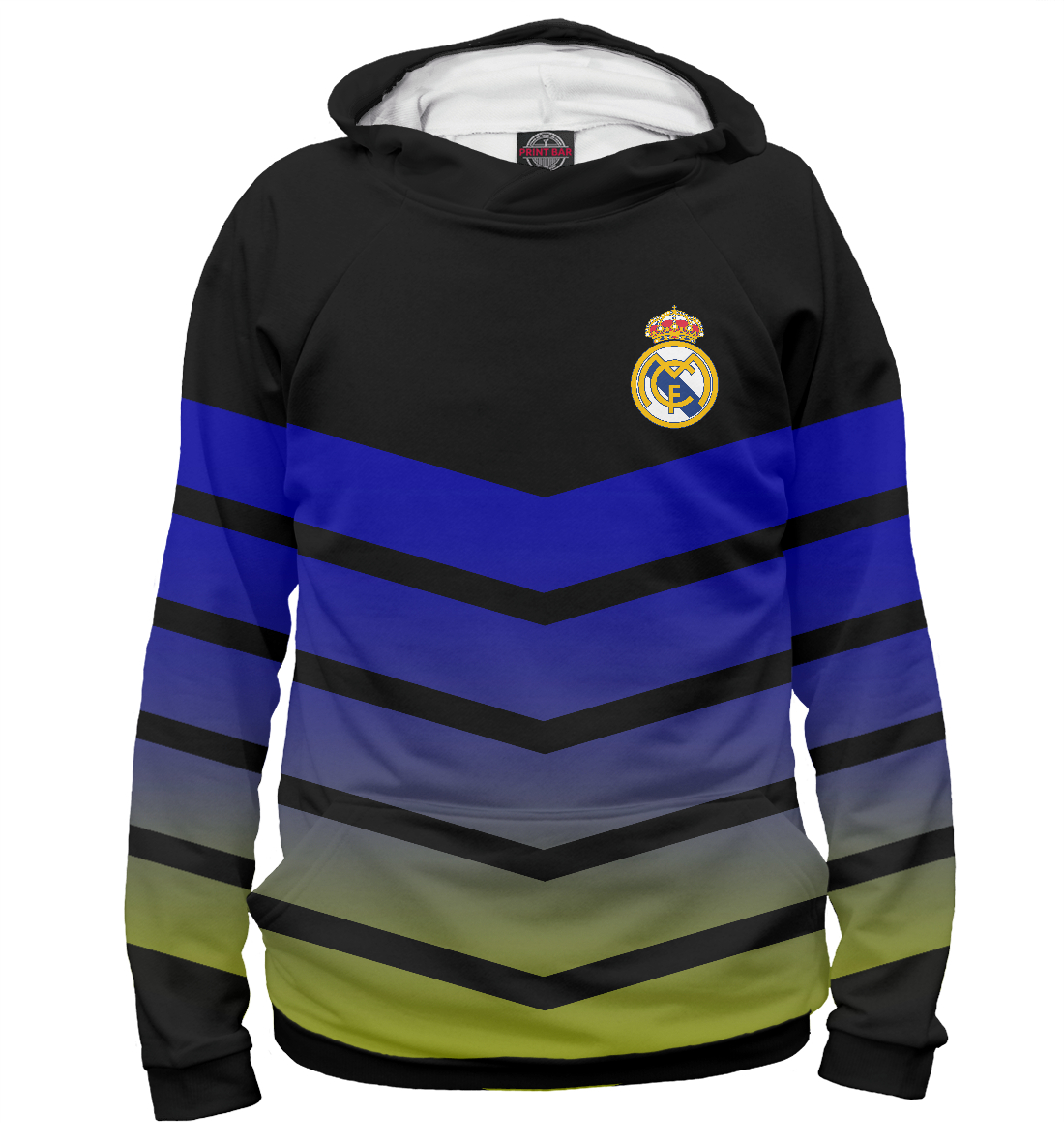 Купить Real Madrid Abstract, Printbar, Худи, REA-464787-hud-2