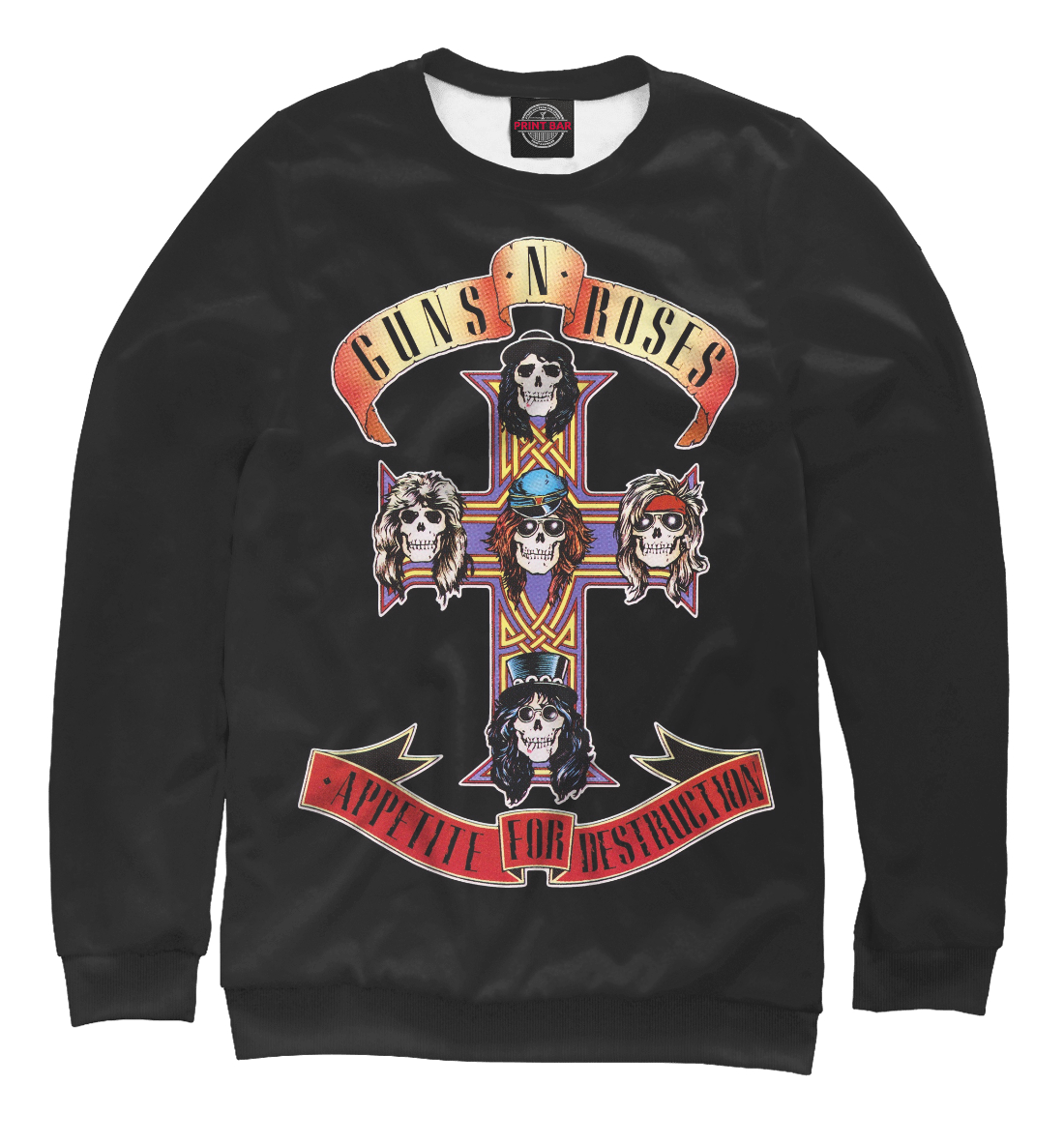 Купить Guns N' Roses, Printbar, Свитшоты, MZK-673682-swi-1