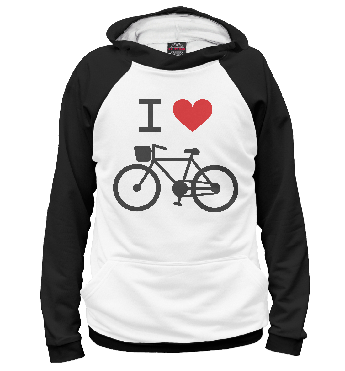 Купить Love my bike, Printbar, Худи, SRD-554998-hud-2