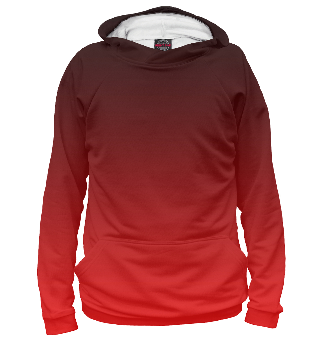 Купить Градиент Красный в Черный, Printbar, Худи, CLR-933713-hud-1
