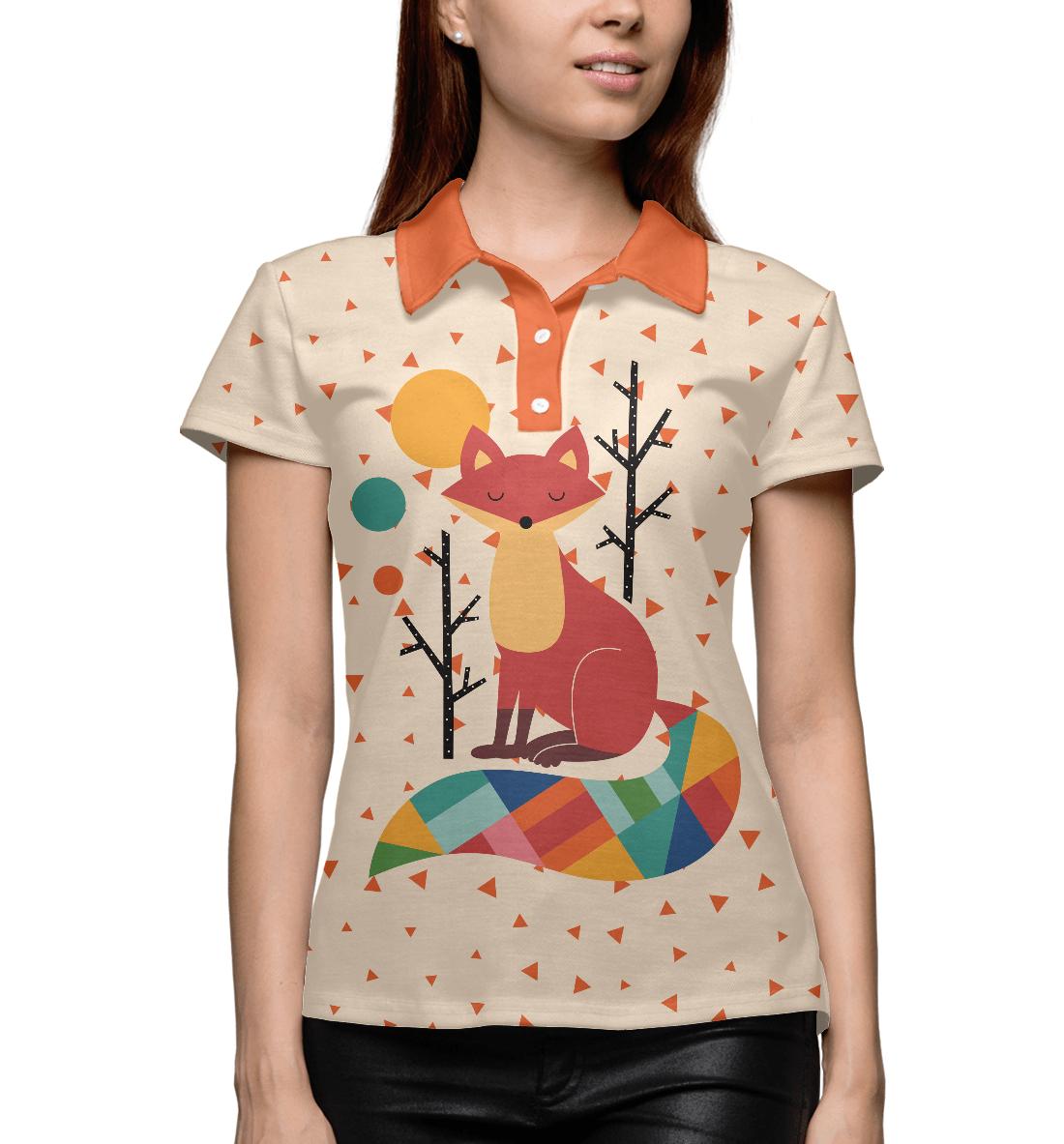 Купить Осенняя лисичка, Printbar, Поло, FOX-630020-pol-1