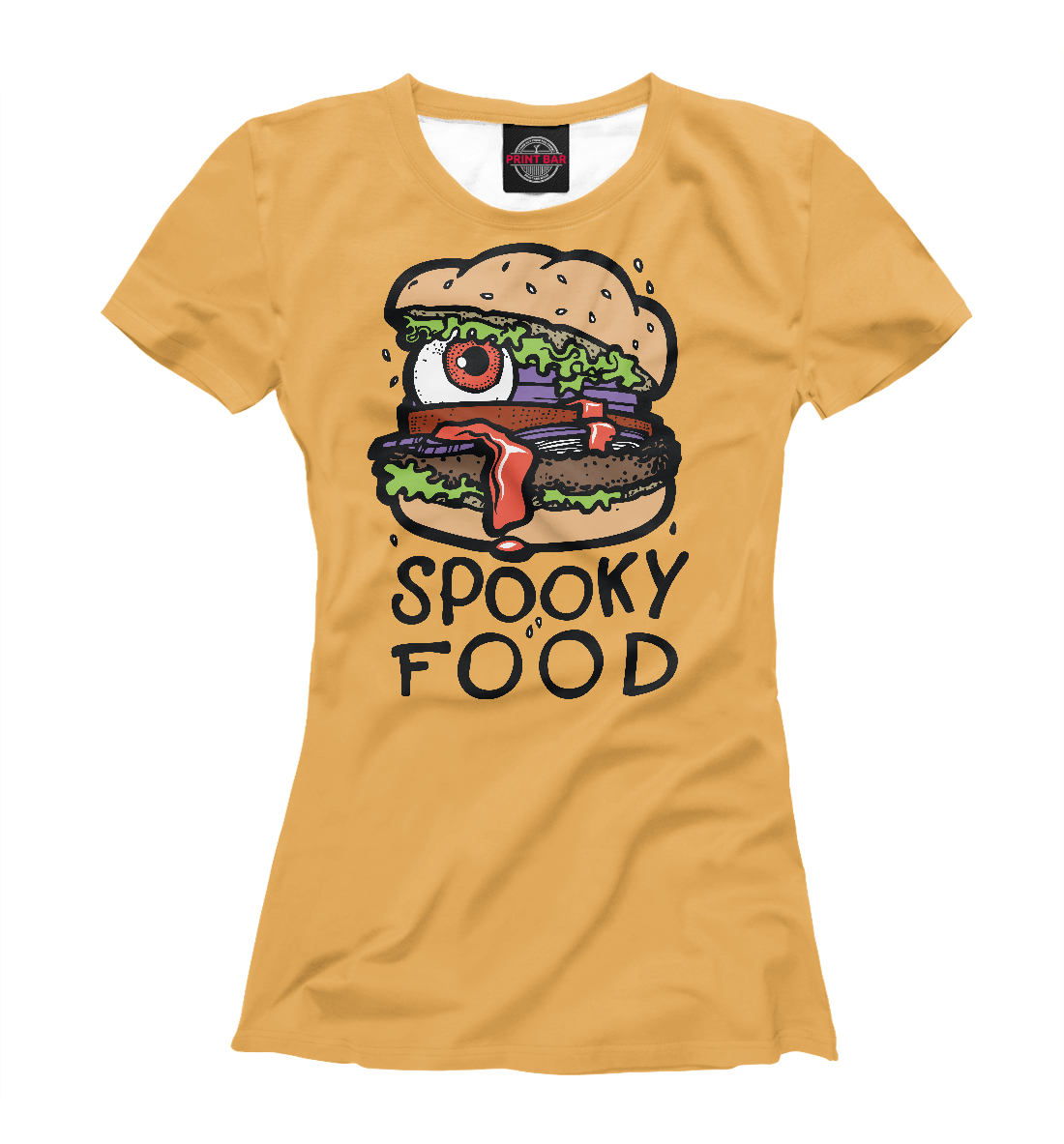 Купить Spooky food, Printbar, Футболки, APD-721925-fut-1