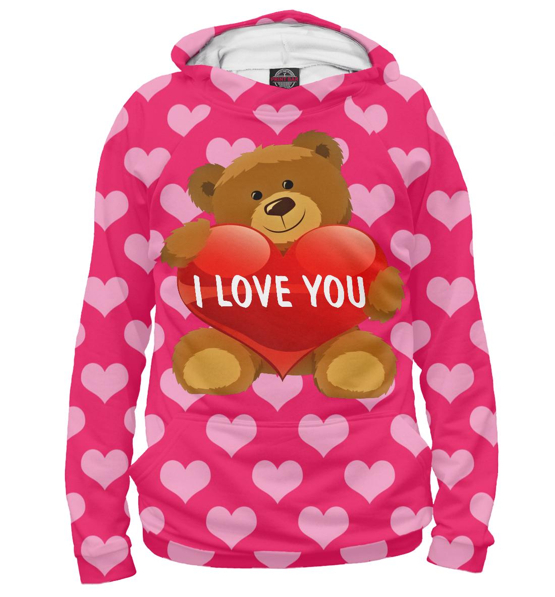 Купить I love you, Printbar, Худи, SRD-955810-hud-2