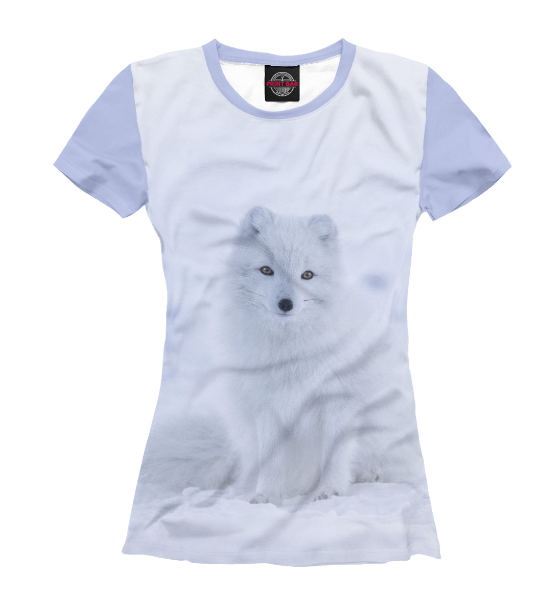 Купить Полярная лиса и снег, Printbar, Футболки, FOX-565507-fut-1