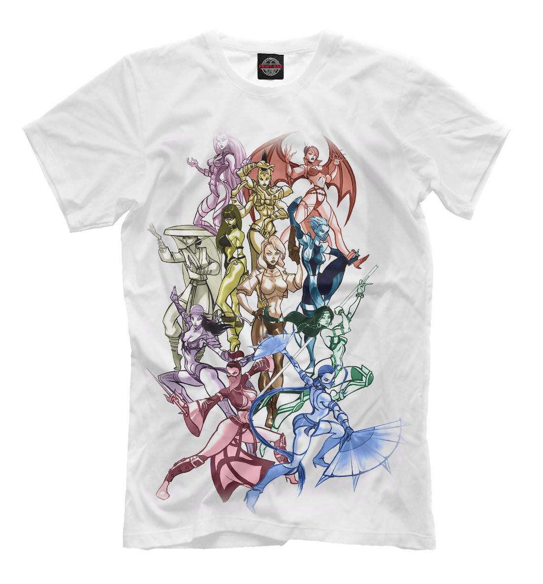 Купить Mortal Kombat Girls, Printbar, Футболки, MKB-442594-fut-2