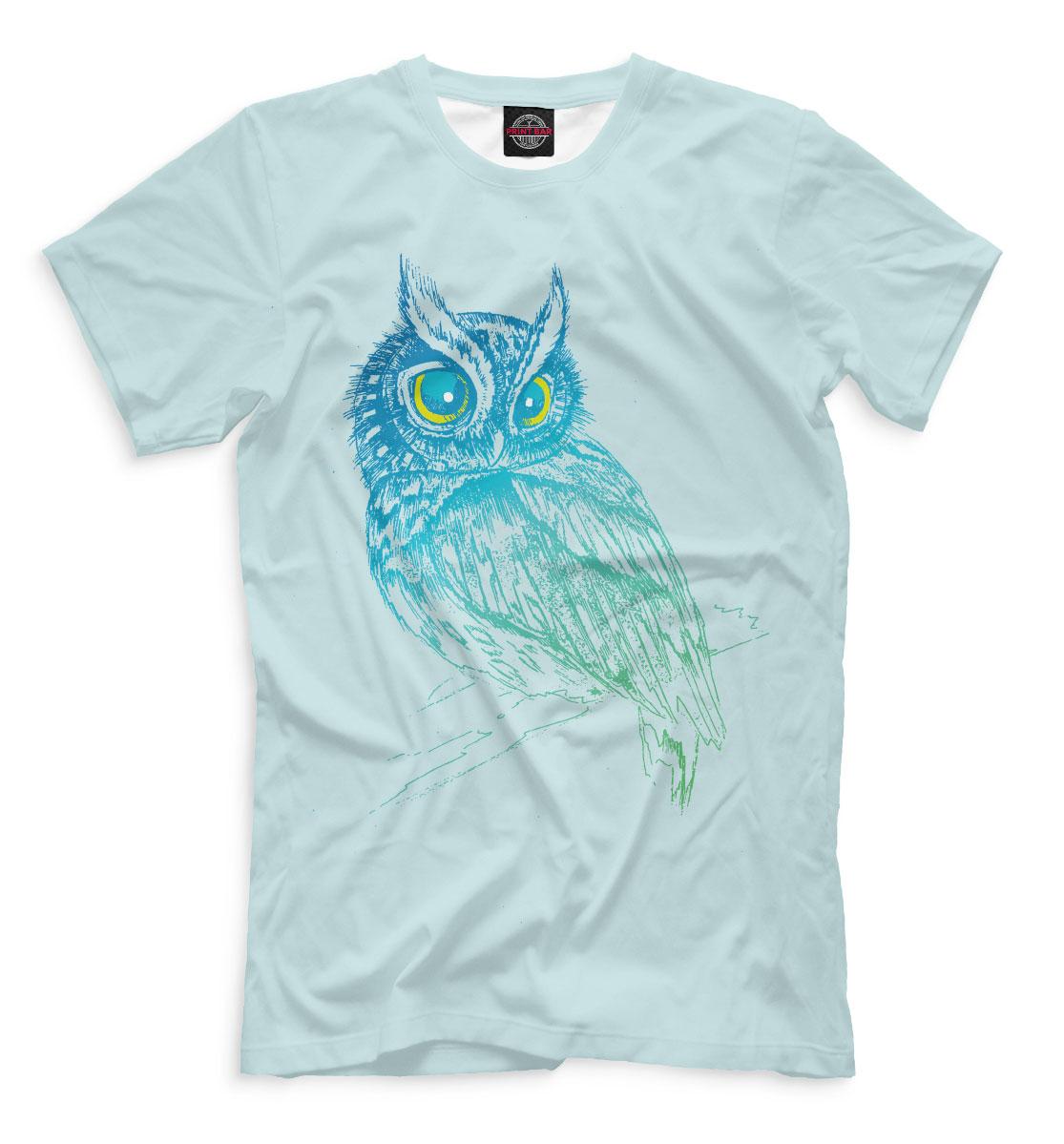 Купить Сова на ветке, Printbar, Футболки, OWL-715085-fut-2