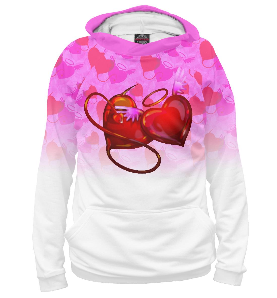Купить Влюбленные сердца, Printbar, Худи, 14F-726845-hud-1