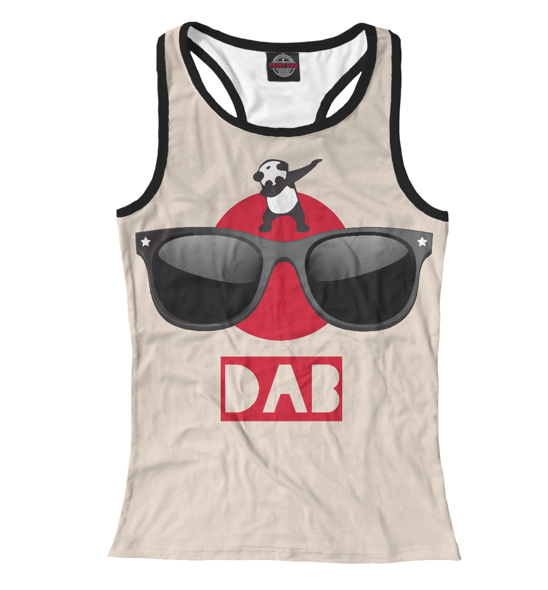 Купить Hipster Panda dab, Printbar, Майки борцовки, HIP-233960-mayb-1