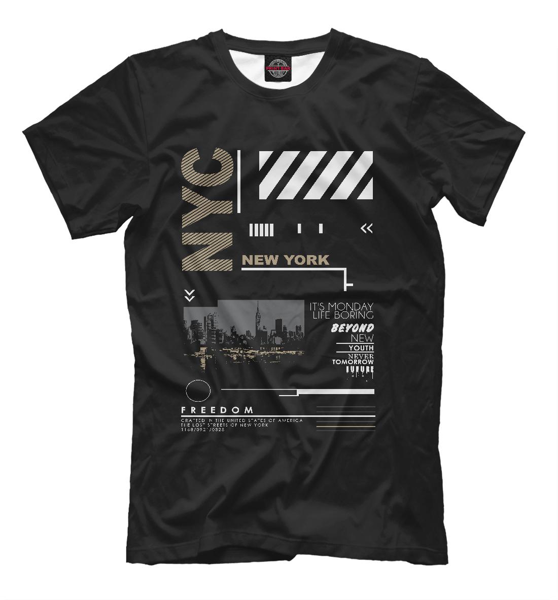 Купить Нью-Йорк, Printbar, Футболки, USA-281646-fut-2