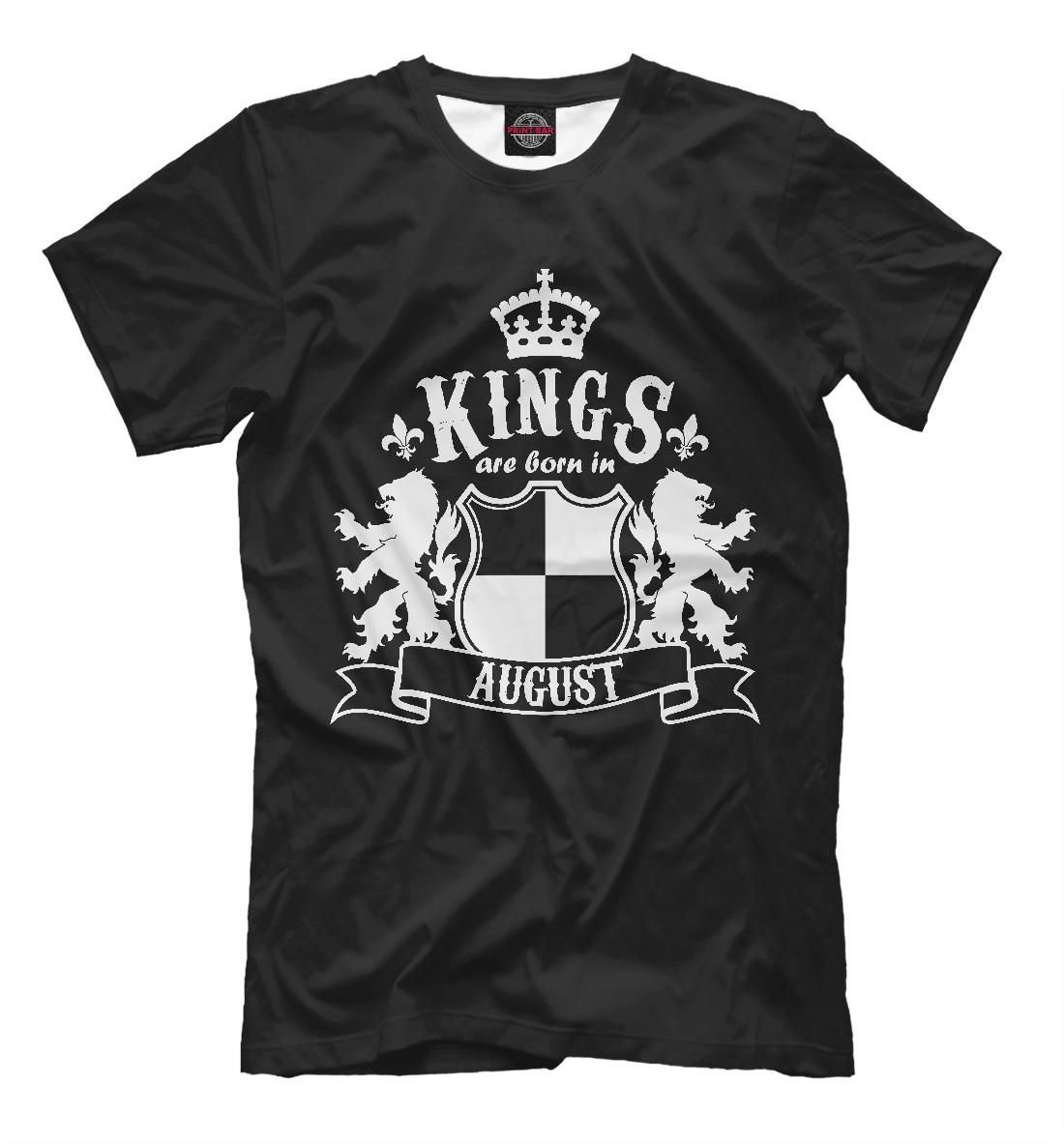 Купить Короли рождаются в августе, Printbar, Футболки, DRZ-305096-fut-2