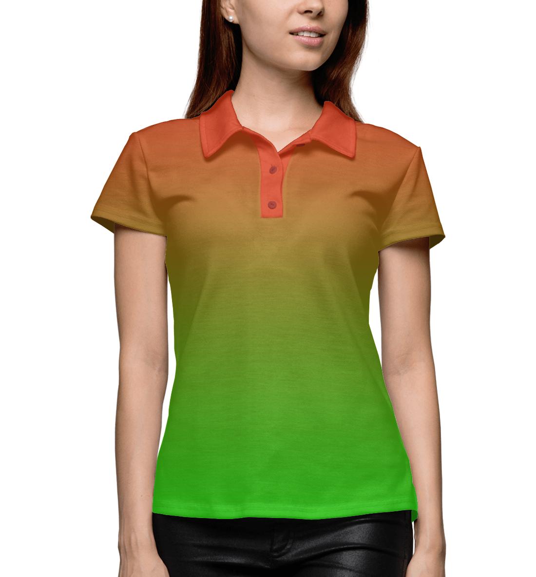 Купить Градиент: Красный в Зеленый, Printbar, Поло, CLR-125451-pol-1