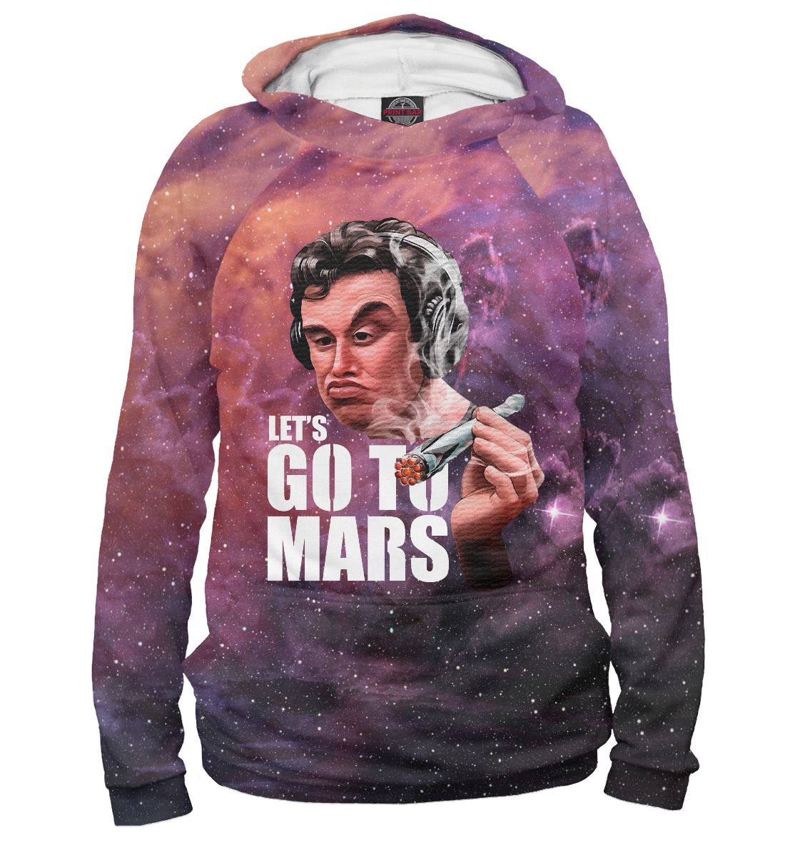 Купить Elon Musk Smoking out Space, Printbar, Худи, ELM-393829-hud-2
