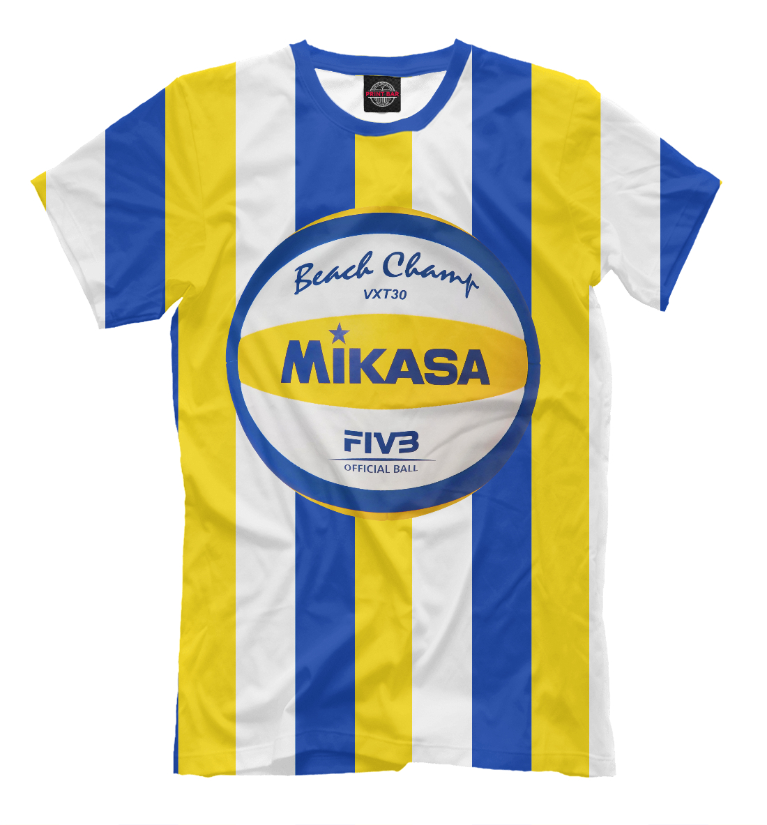 Купить Beach volleyball (Mikasa), Printbar, Футболки, VLB-892406-fut-2