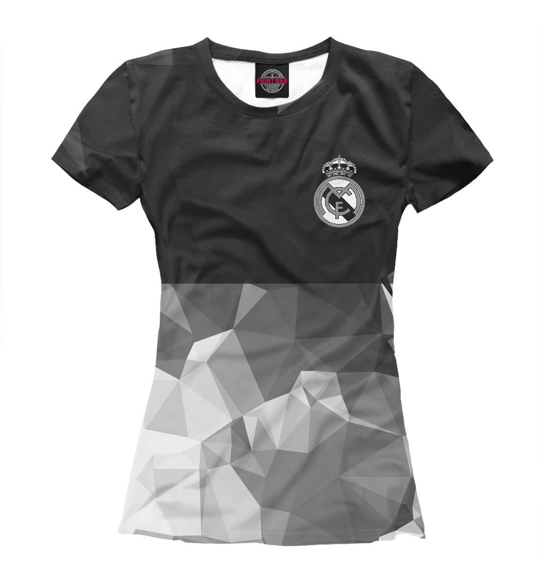 Купить Real Madrid Polygons, Printbar, Футболки, REA-308559-fut-1