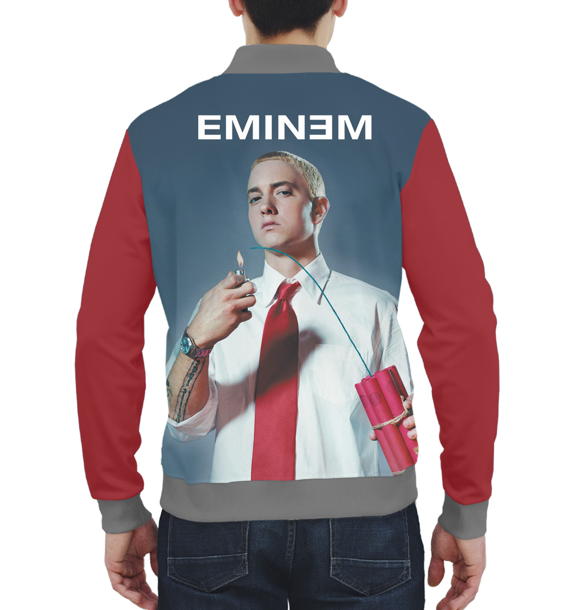 Купить Eminem, Printbar, Бомбер, EMI-518702-bmb-2