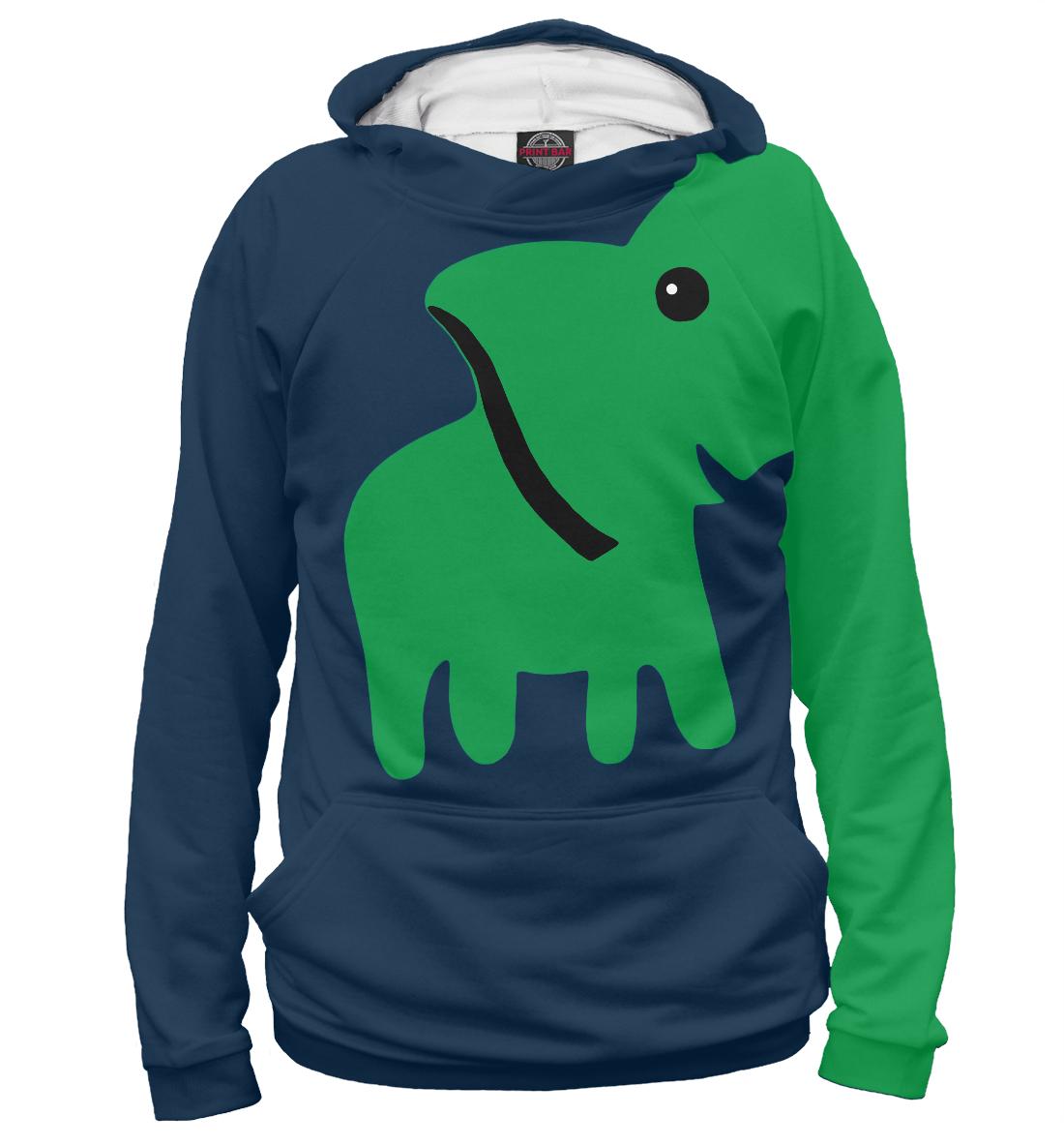 Купить Зеленый Слоник, Printbar, Худи, APD-725073-hud-1