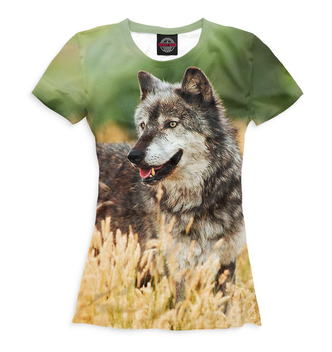 Волк, Printbar, Футболки, VLF-412415-fut-1  - купить со скидкой