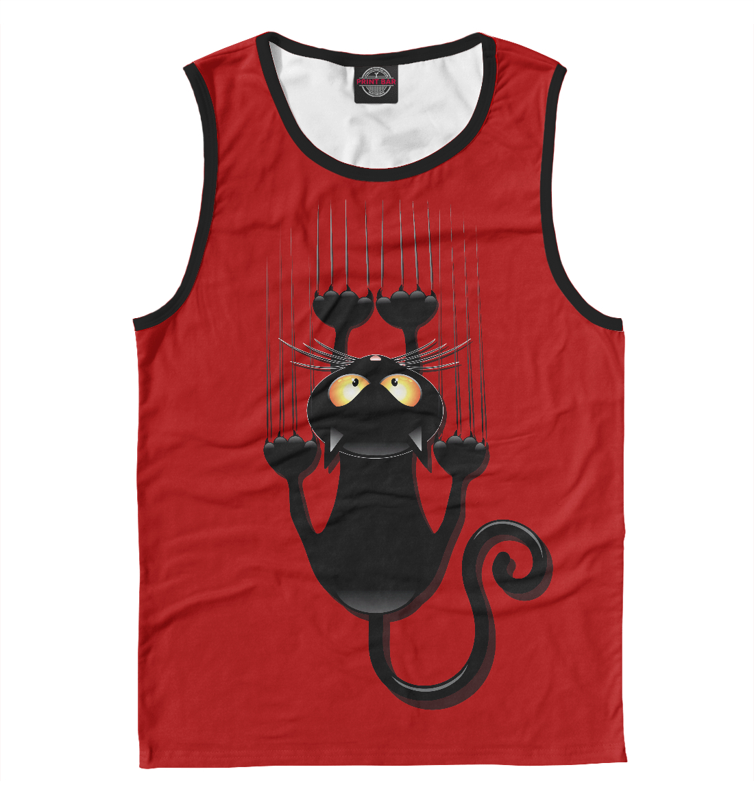 Черный кот, Printbar, Майки, NDP-848319-may-2  - купить со скидкой
