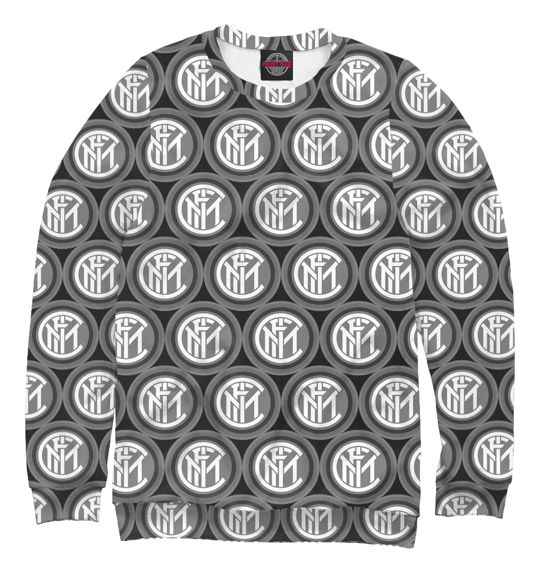 Купить Inter Milan Black&White, Printbar, Свитшоты, FTO-376139-swi-2