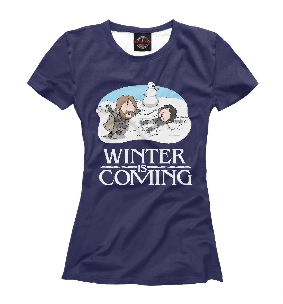 Купить Зима близко, Printbar, Футболки, IGR-495807-fut-1