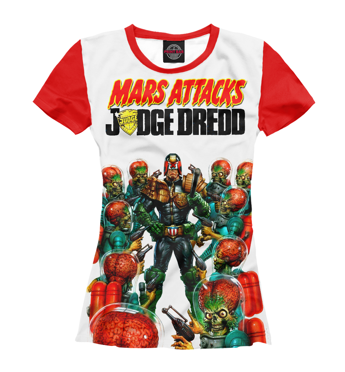 Купить Mars attacks Judge Dredd, Printbar, Футболки, CMX-464028-fut-1