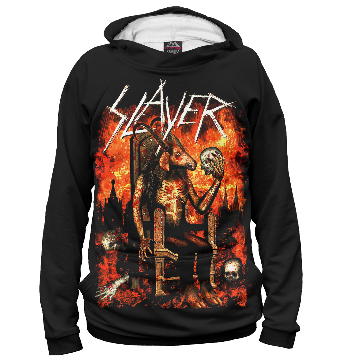 Slayer, Printbar, Худи, SLR-429357-hud-2  - купить со скидкой