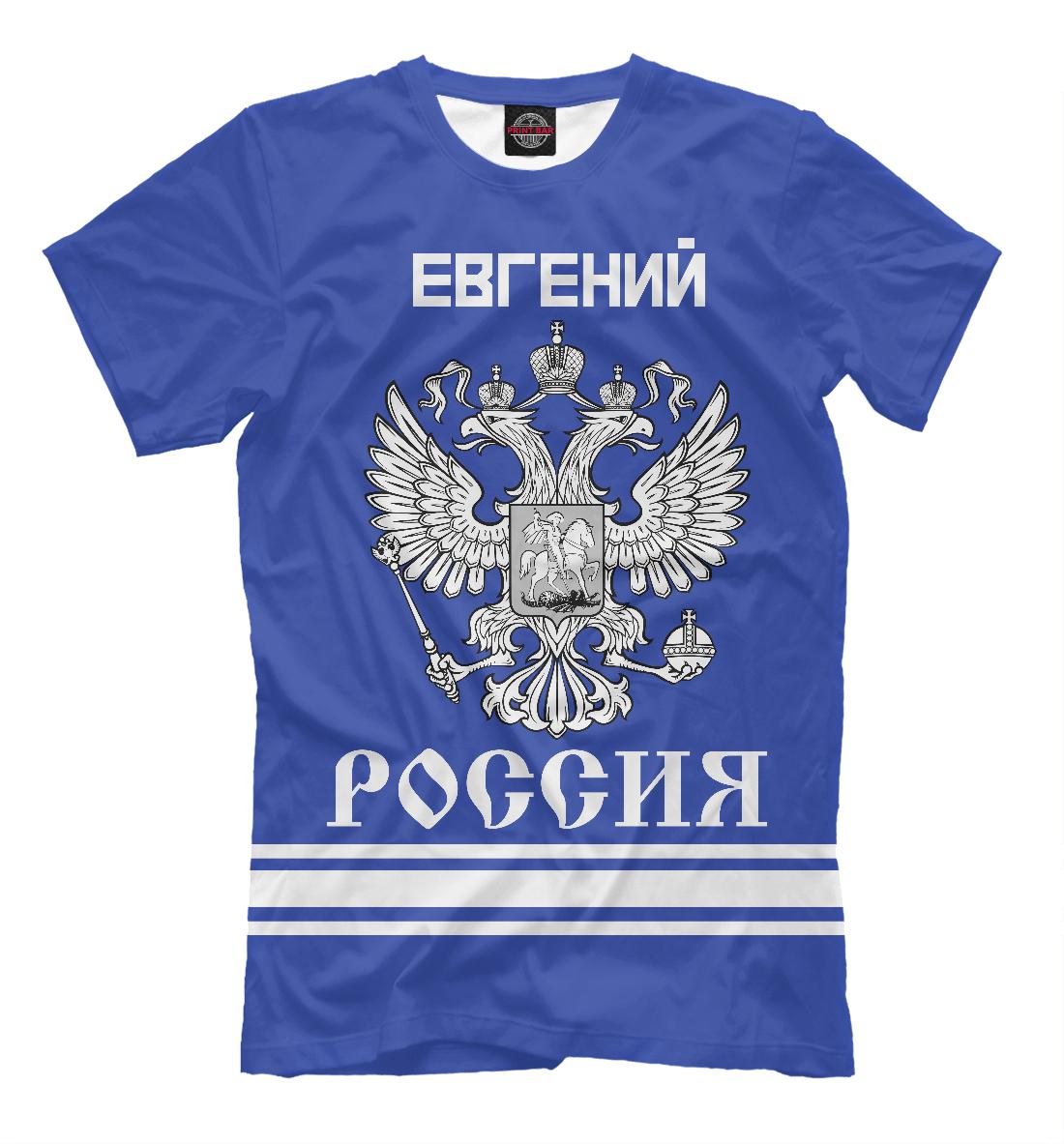 Купить ЕВГЕНИЙ sport russia collection, Printbar, Футболки, EVG-287467-fut-2