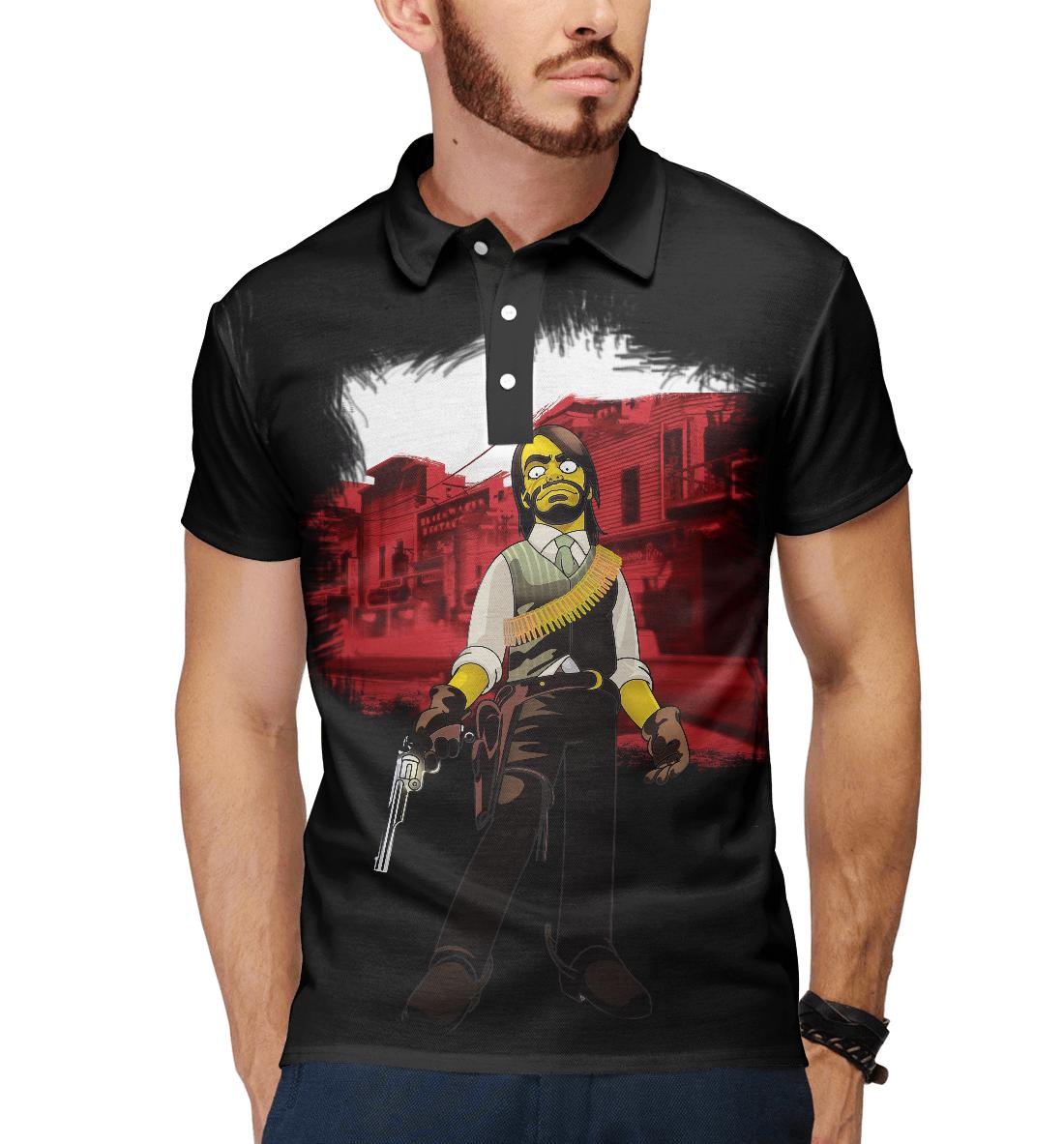 Купить Red Dead Redemption: The Simpsons Style, Printbar, Поло, ROC-591432-pol-2