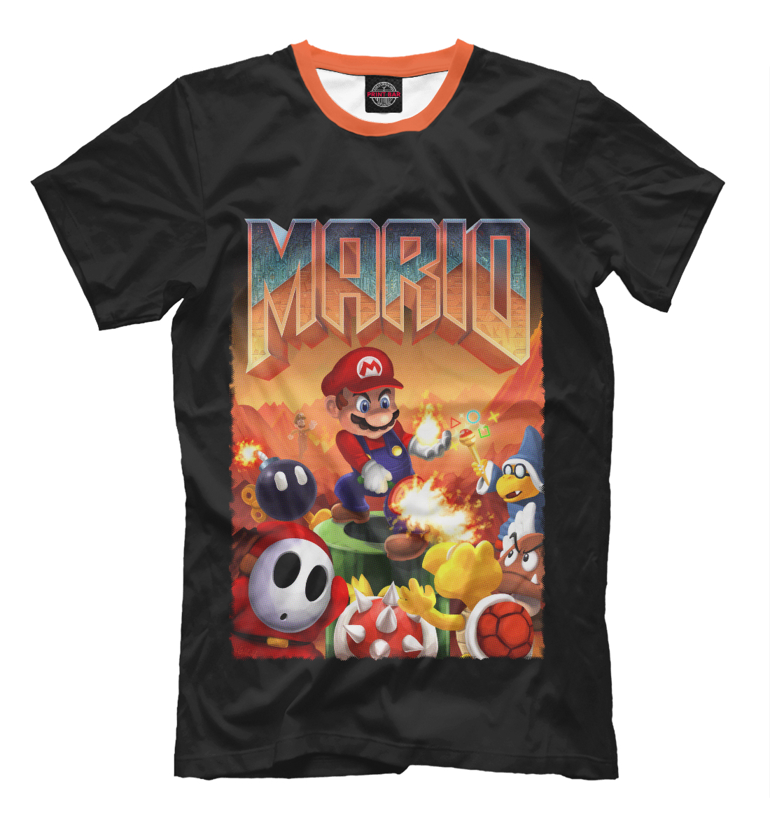 Купить Mario Doom, Printbar, Футболки, DEN-963781-fut-2