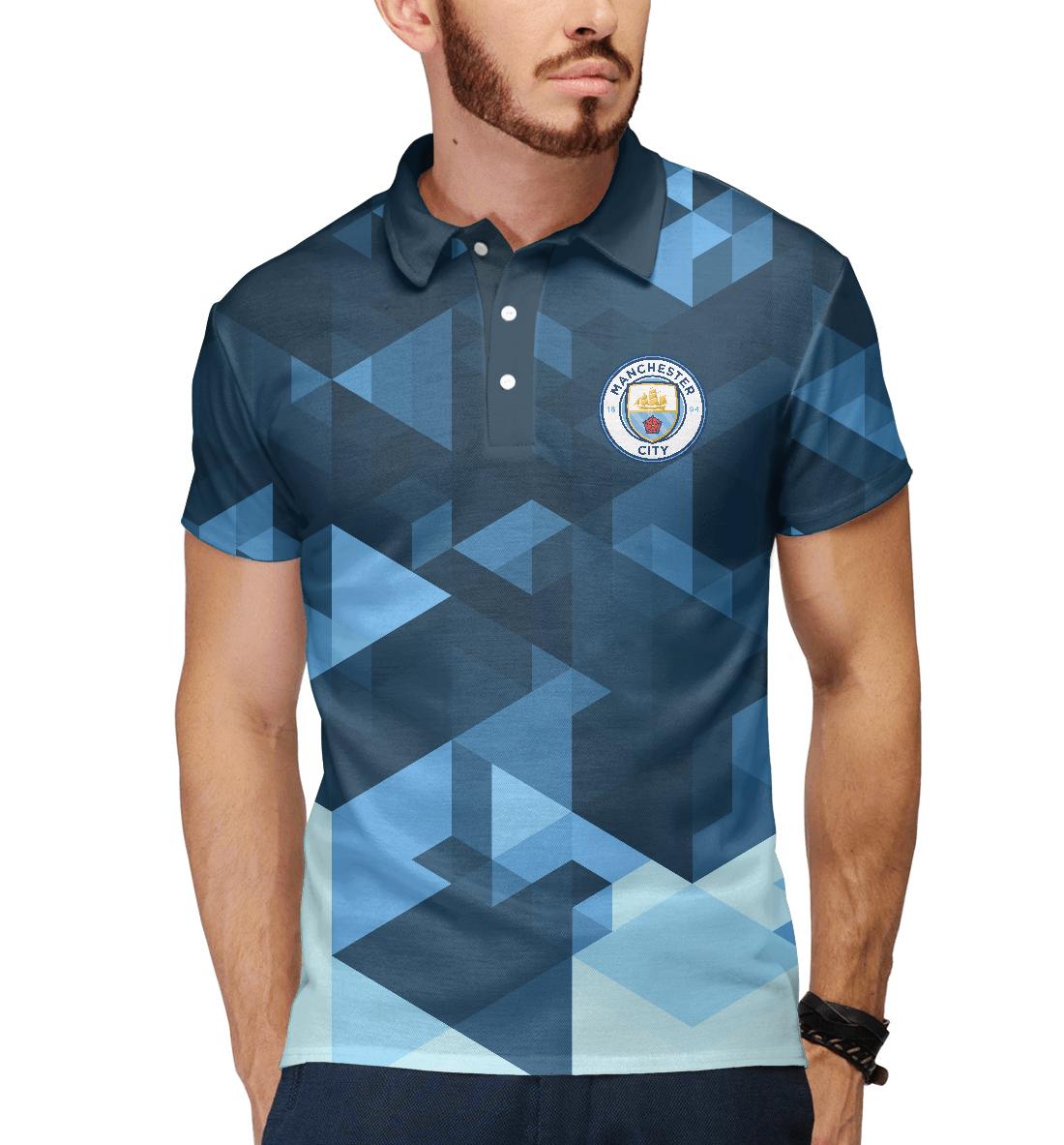 Купить Manchester City Abstract, Printbar, Поло, MNC-929386-pol-2
