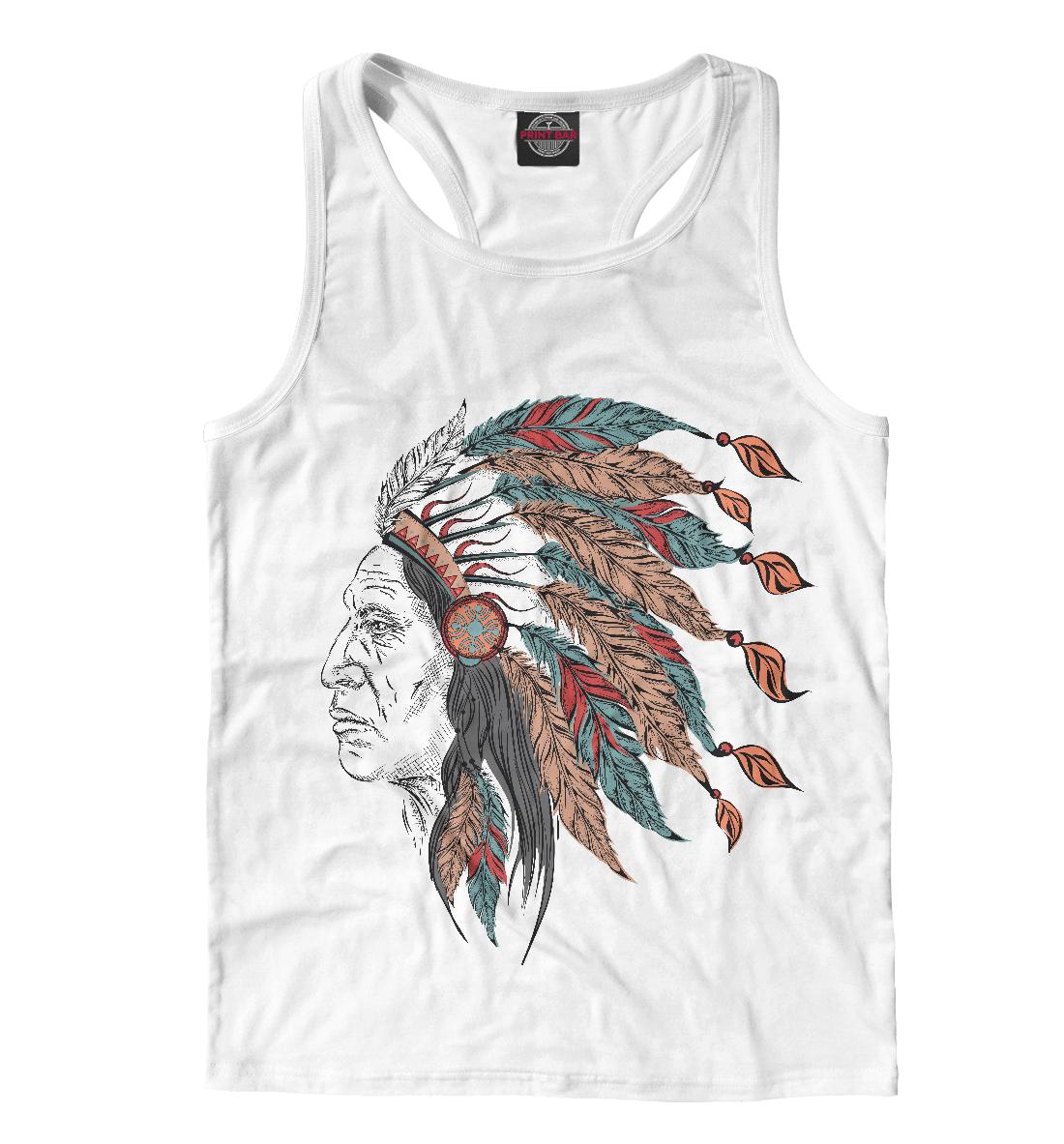 Купить Wise Indian, Printbar, Майки борцовки, HIP-609424-mayb-2