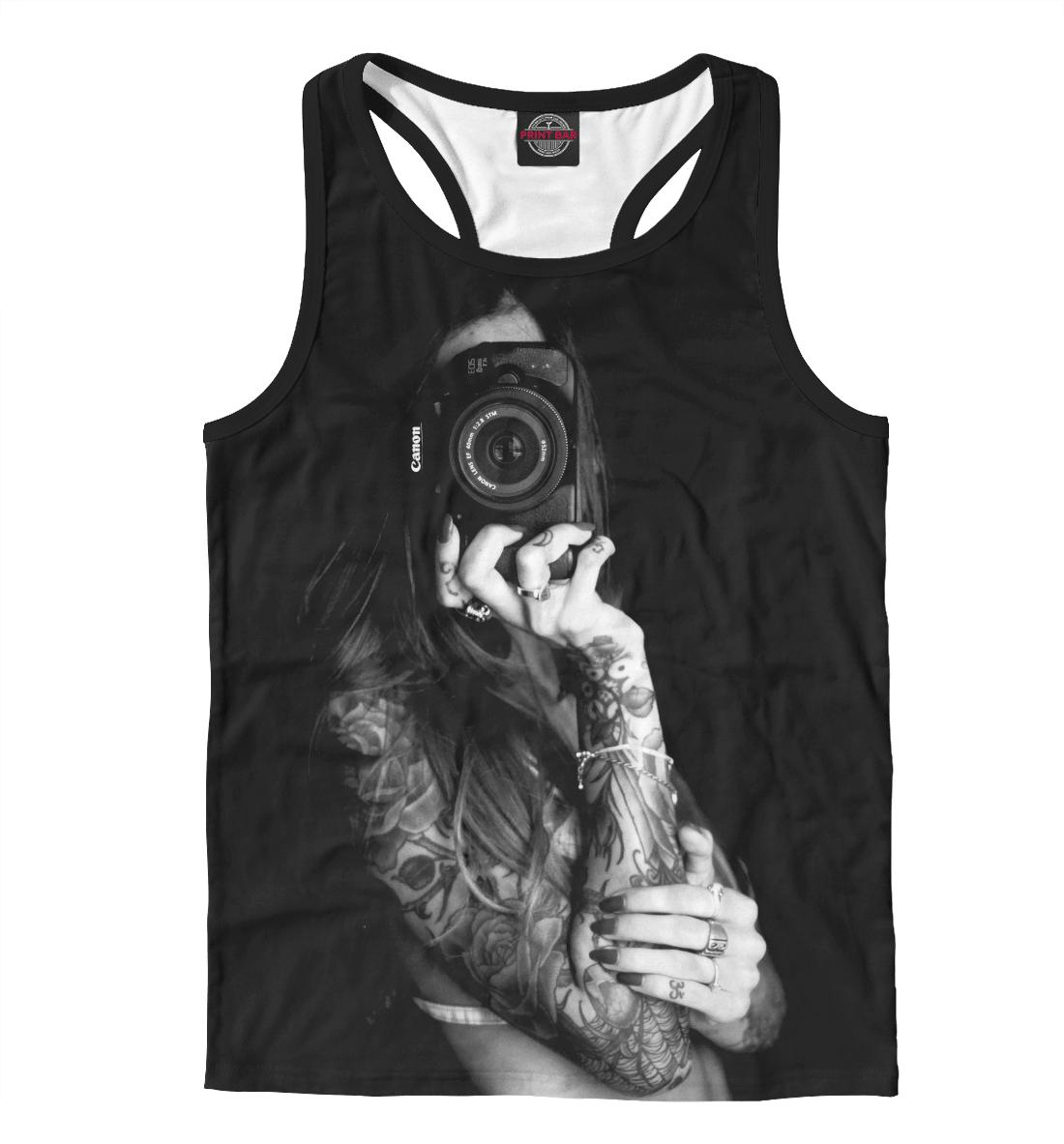 Купить Девушка с фотоаппаратом, Printbar, Майки борцовки, DVU-774807-mayb-2