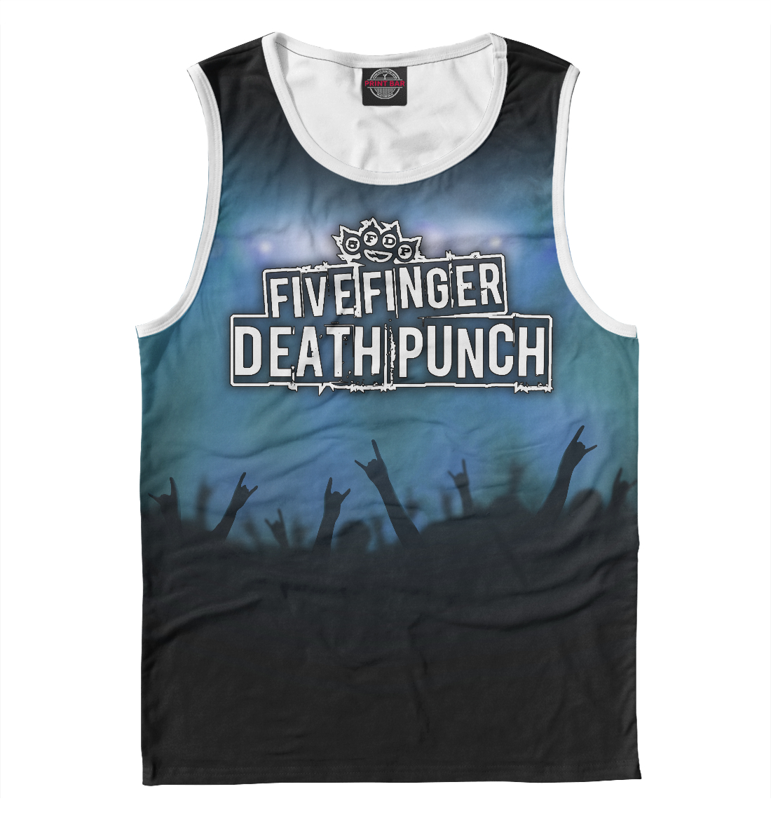 Купить Five Finger Death Punch, Printbar, Майки, FFD-413666-may-2