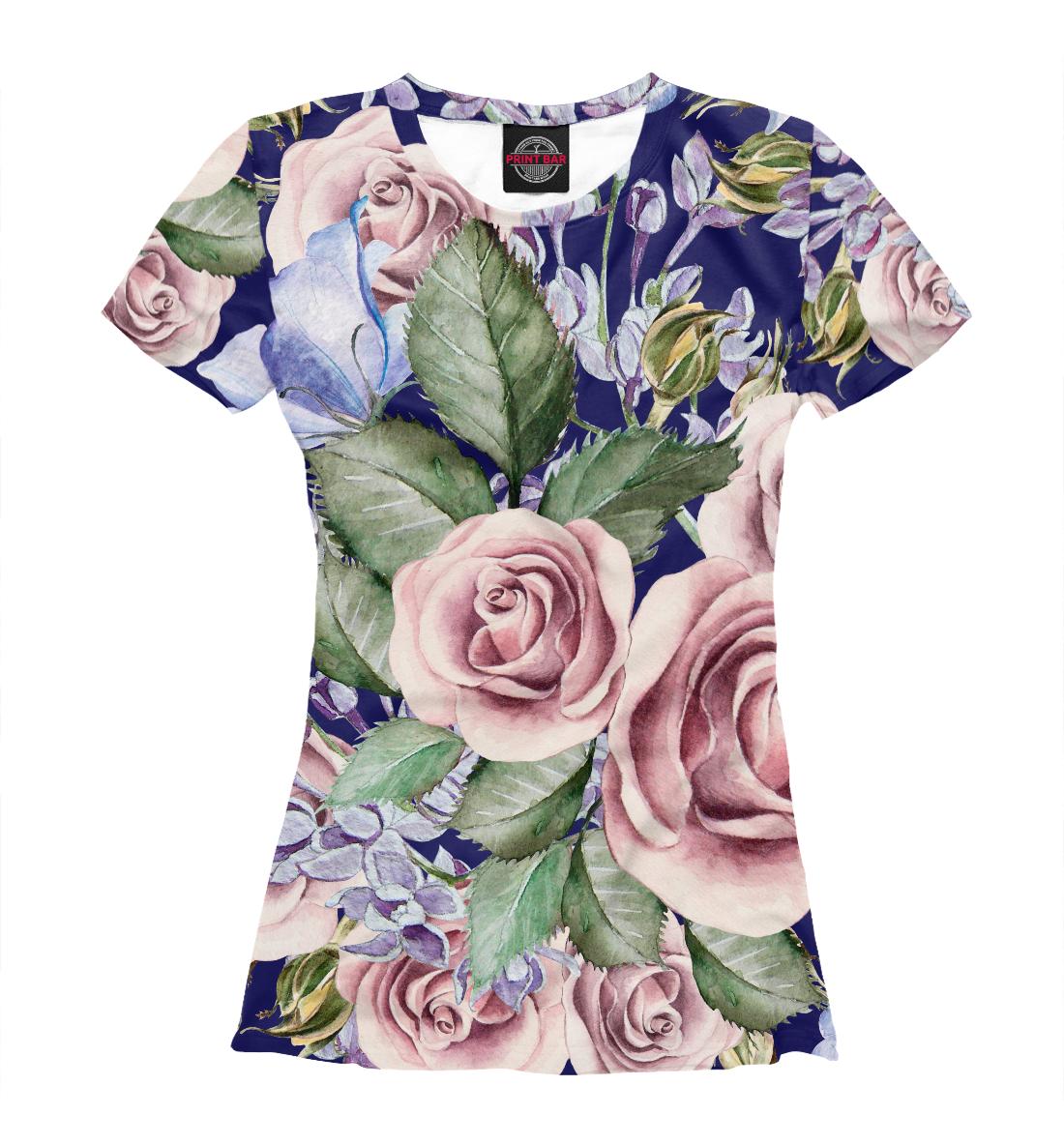 Купить Розы в саду, Printbar, Футболки, CVE-568937-fut-1
