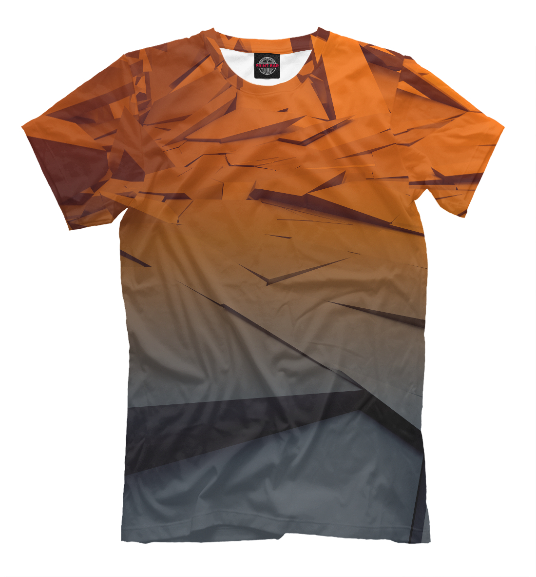 Купить Abstraction gray&orange collection, Printbar, Футболки, ABS-108682-fut-2