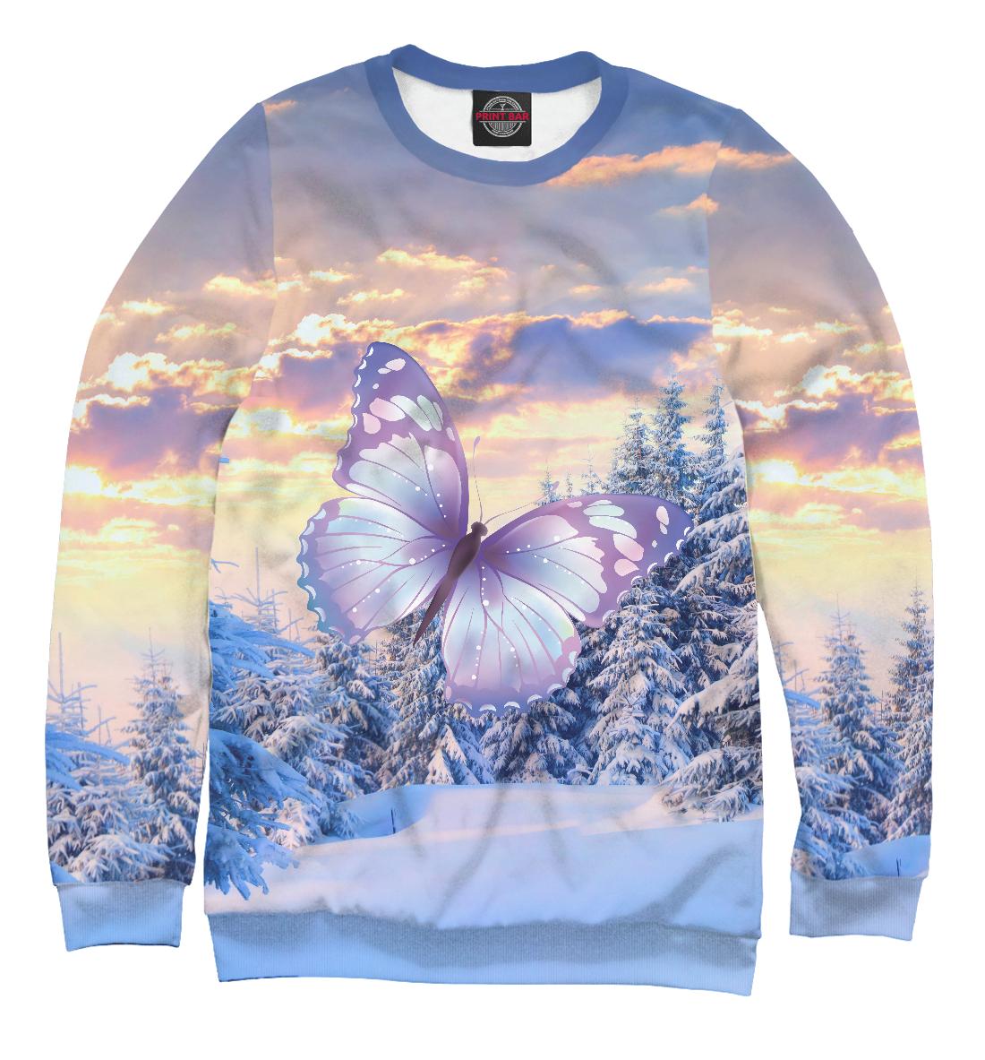 Купить Зимняя бабочка, Printbar, Свитшоты, NAS-368952-swi-2