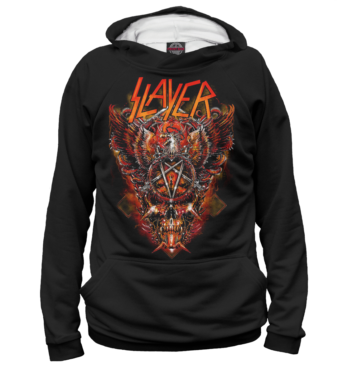 Купить Slayer thrash metal band, Printbar, Худи, MZK-321618-hud-2