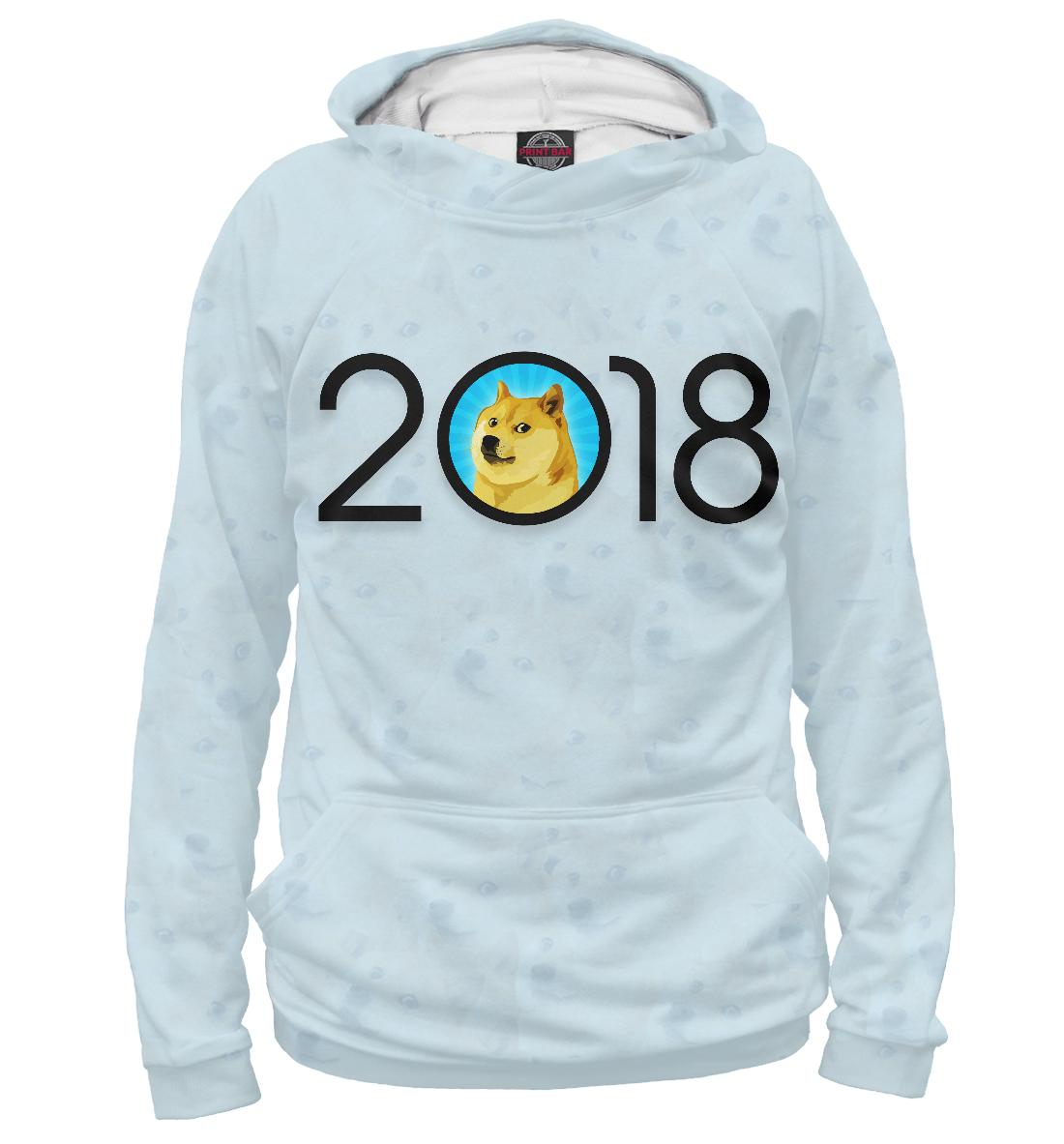 Купить 2018 Doge Year, Printbar, Худи, NOV-116937-hud-1