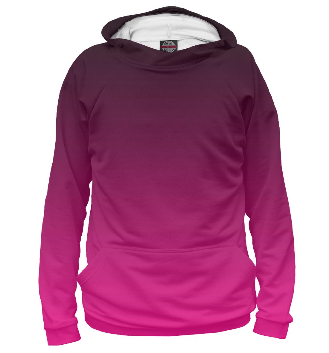 Купить Градиент Розовый в Черный, Printbar, Худи, CLR-560218-hud-1