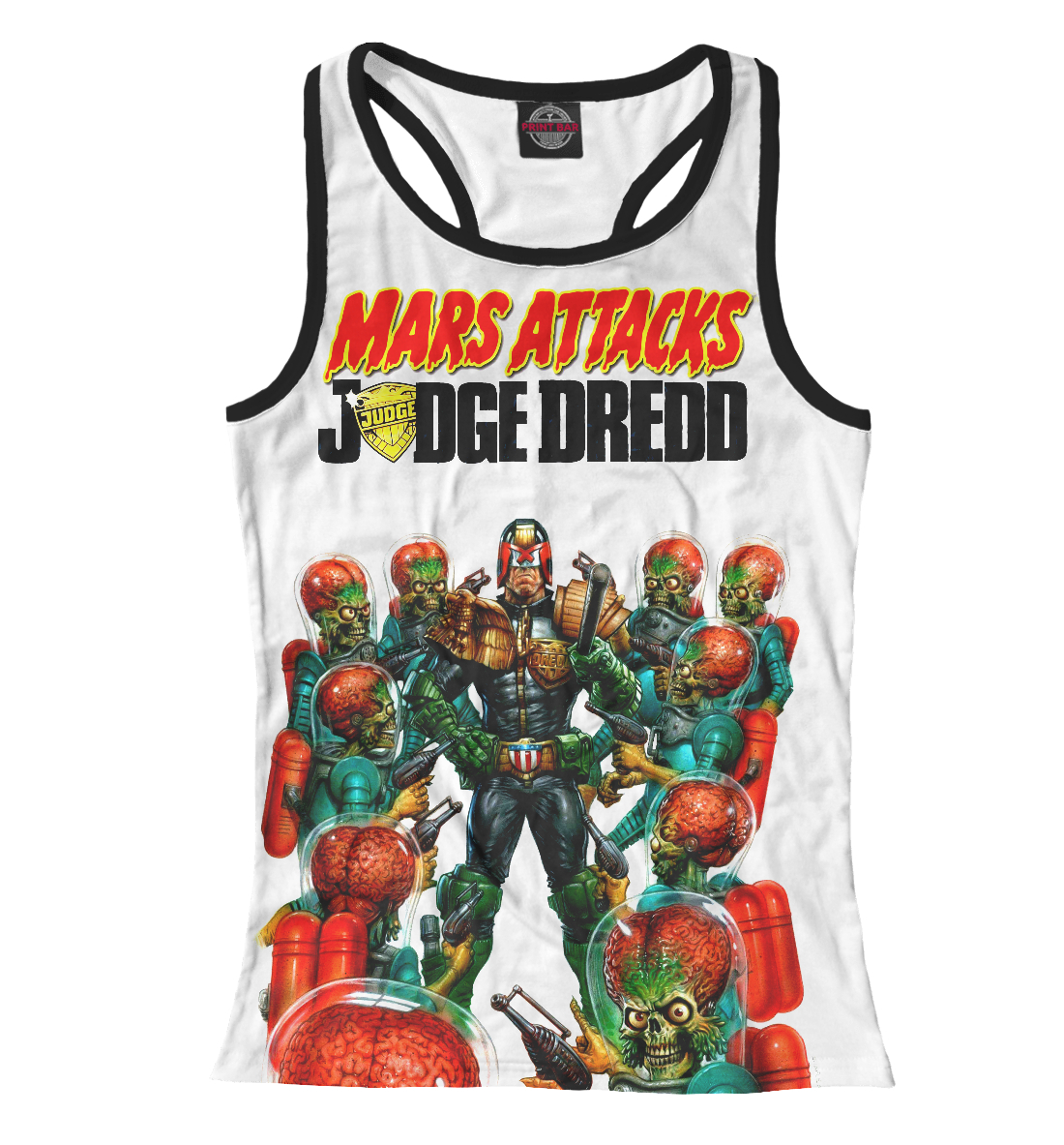 Купить Mars attacks Judge Dredd, Printbar, Майки борцовки, CMX-464028-mayb-1