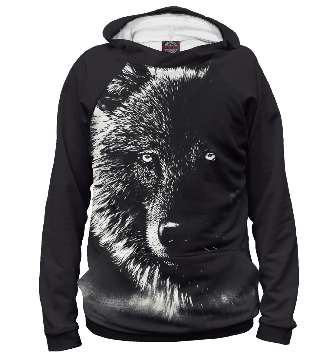 Купить Черный Волк, Printbar, Худи, VLF-586949-hud-1