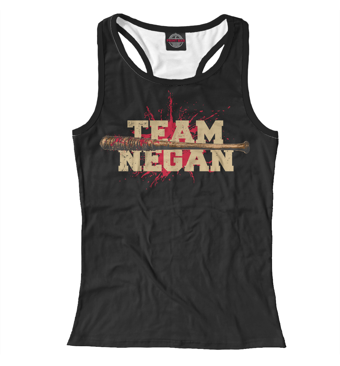 Купить Team Negan, Printbar, Майки борцовки, HOD-633235-mayb-1