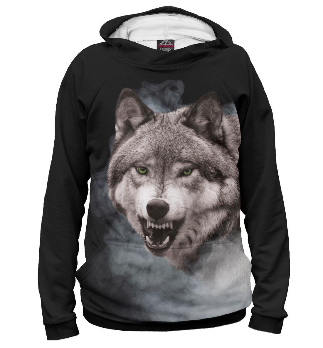 Купить Серый Волк в дымке, Printbar, Худи, VLF-808679-hud-2