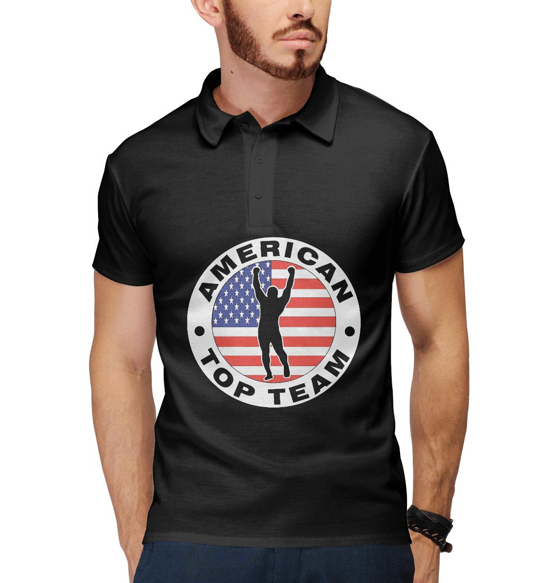 Купить American Top Team black, Printbar, Поло, MNU-459752-pol-2