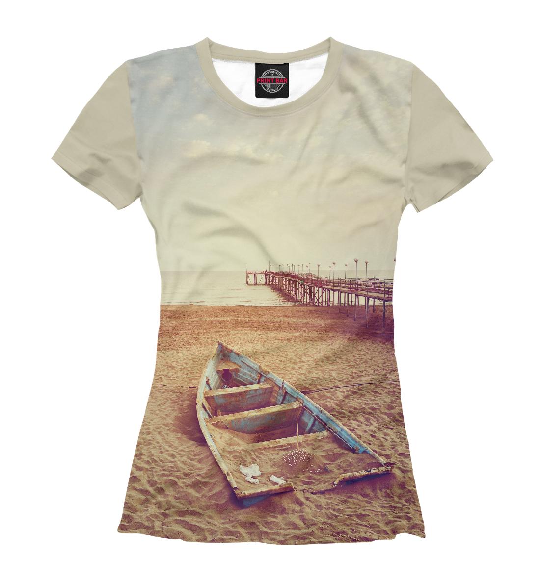 Купить Лодка на песке, Printbar, Футболки, PEY-917351-fut-1