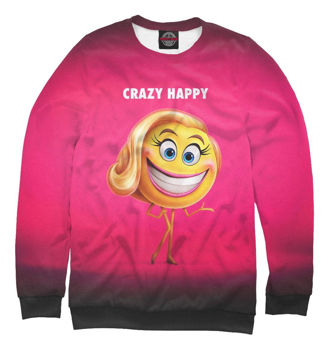 Купить Crazy Happy, Printbar, Свитшоты, EMJ-645138-swi-2