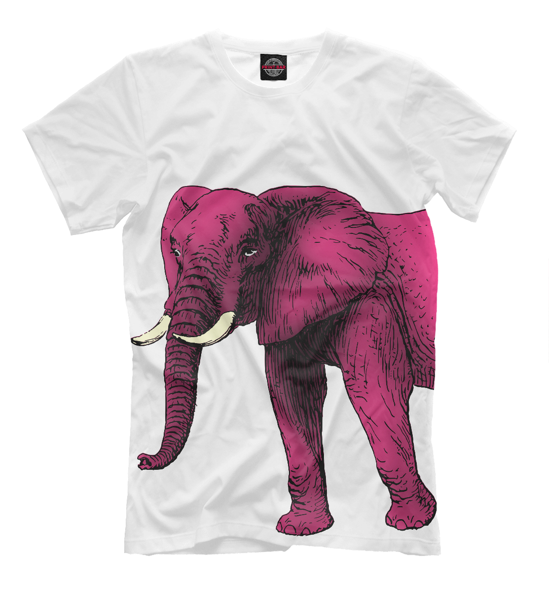 Слон фуксия розы в букетиках фуксия 11 00530 10