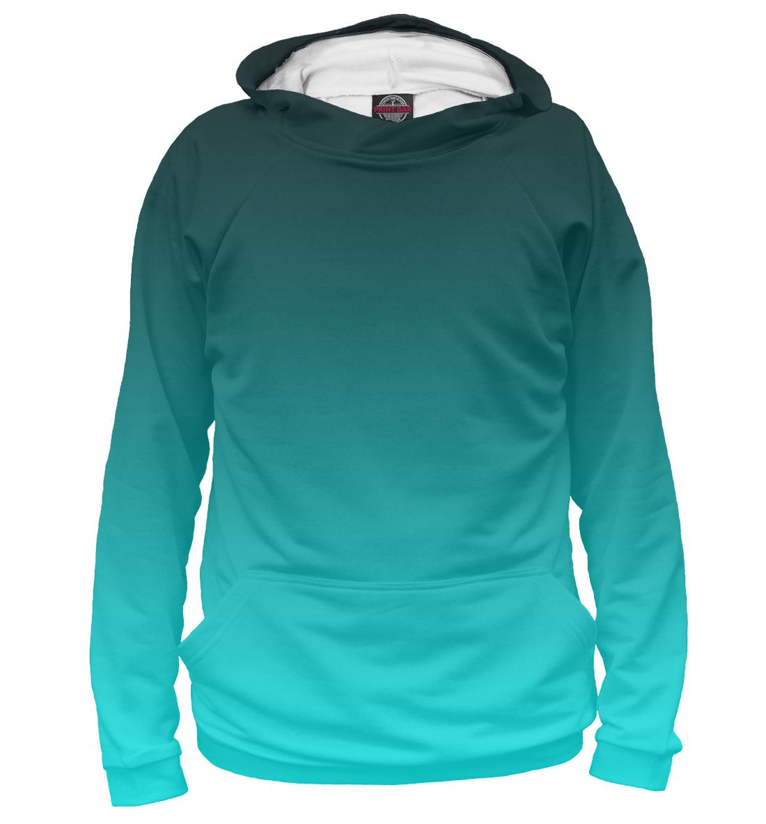 Купить Градиент Голубой в Черный, Printbar, Худи, CLR-276598-hud-1