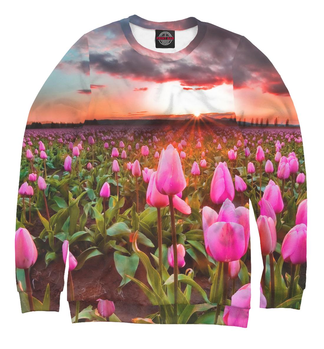 Купить Розовые тюльпаны, Printbar, Свитшоты, CVE-678245-swi-1