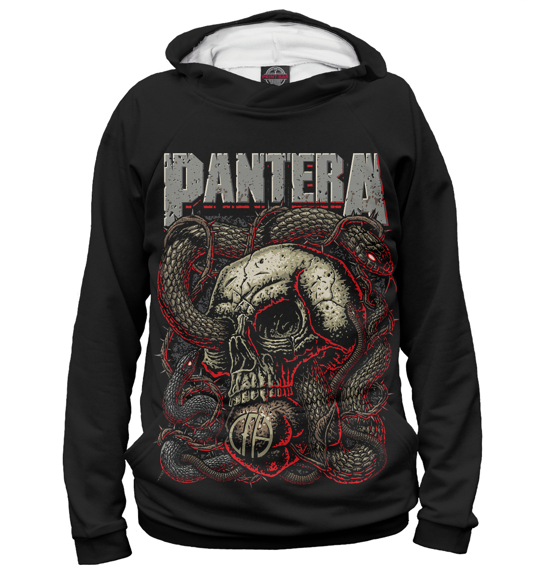 Купить Pantera Skull and Snake, Printbar, Худи, PNT-503328-hud-1